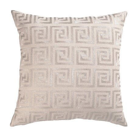 D.L. Rhein Greek Key Pillow in Silver