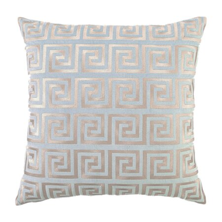 D.L. Rhein Greek Key Pillow in Blue