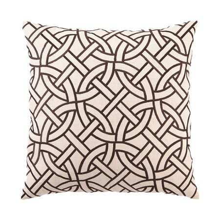 D.L. Rhein Circle Link Pillow in Brown