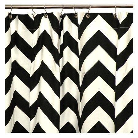 black and white chevron shower curtain curtain