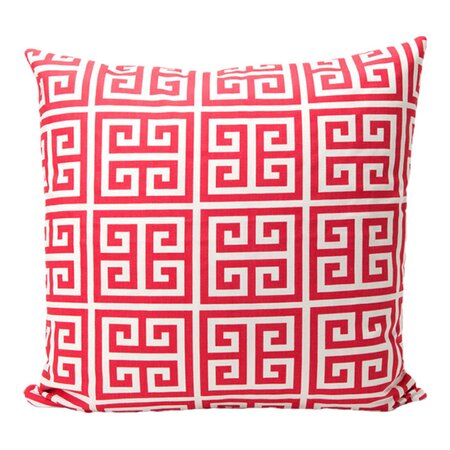 Small Greek Key Pillow in Sherbert Pink