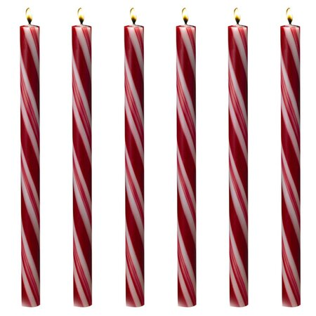 Candycane Taper Candle (Set of 6)