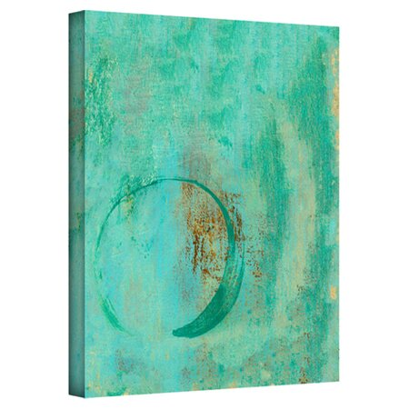 Teal Enso Canvas Print