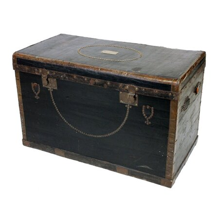 Antique Belgian Travel Trunk