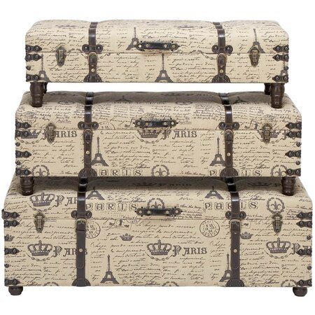 3 Piece Paris Storage Bench