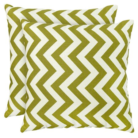 Zig Zag Pillow in Green (Set of 2)