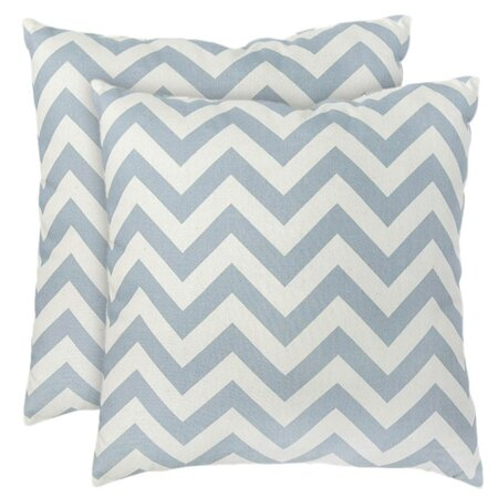 Zig Zag Pillow in Blue (Set of 2)