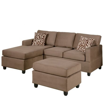 3 Piece Bobkona Sectional Sofa Set