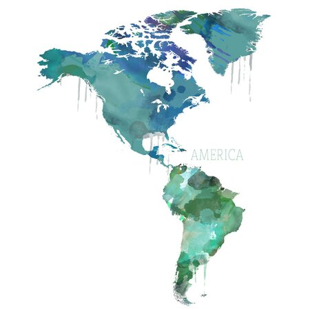 America Map Wall Art