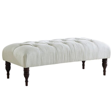Spire Tufted Bench in White