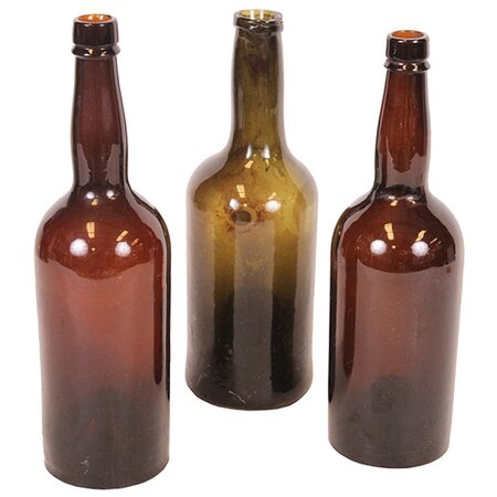 Antique 3 Piece Cosette Champagne Bottle Set