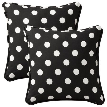 Cecilia Pillow in Black (Set of 2)