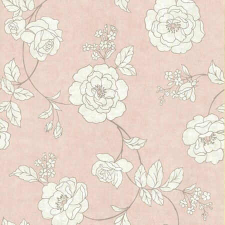 Serene Rose Wallpaper in Ballet Pink