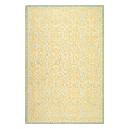Cambridge Rug in Blue & Gold