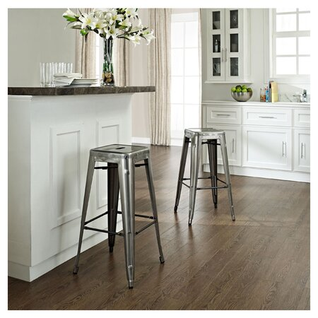 Amelia Bar Stool in Galvanized
