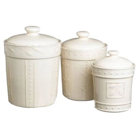 classic kitchen colors 6 piece sorrento canister set in ivory sig1789 e6269