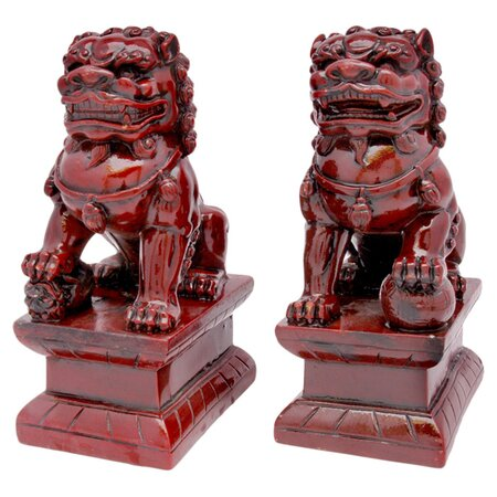 2 Piece Foo Lion Statue Set