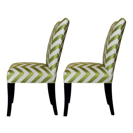 Kristin Accent Chair in Lime Green (Set of 2)