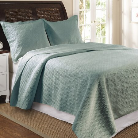 Vashon Quilt Set in Slate Blue