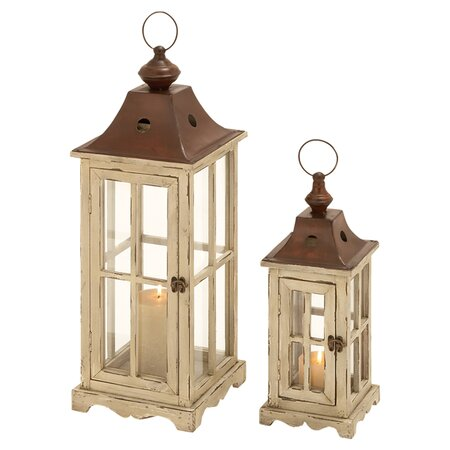 2-Piece Sanibel Candle Lantern Set