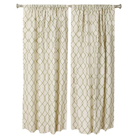 Roesia Curtain in Green (Set of 2)