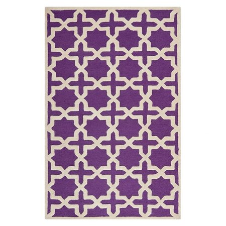 Alvar rug in purple artisan accents on joss main for Rugs with purple accents