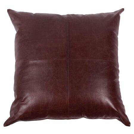Sedona Leather Pillow in Brown - Southwestern Styles on Joss & Main