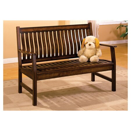 La Conchita Bench in Dark Walnut
