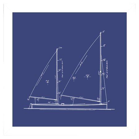 Sailboat Blueprint I Wall Art