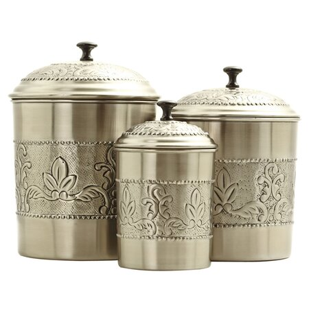 hamptons kitchen 3 piece victoria canister set oi1572 e6027