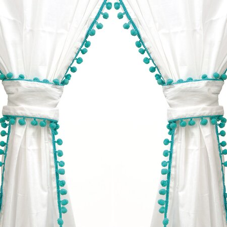 Banita curtain panel in turquoise
