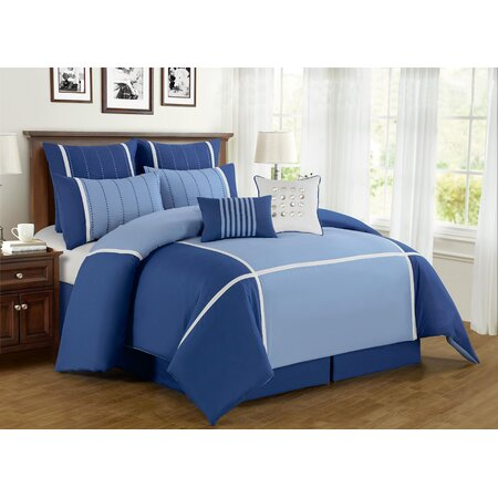 8 Piece Royalton Comforter Set in Blue