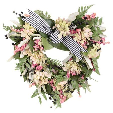 Faux florals wreaths joss and main for Le jardin des fleurs paris