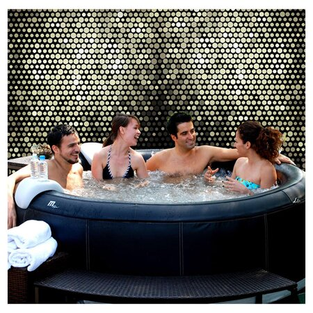 6 Person Inflatable Bubble Spa in Black