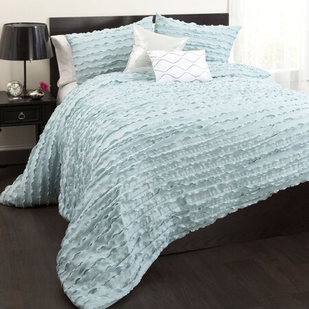5 Piece Moderna Comforter Set in Blue