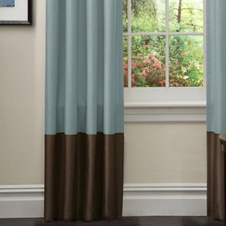 Prima Curtain in Sea Green & Chocolate