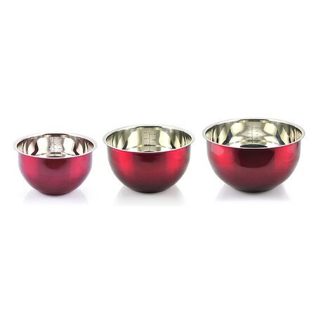 6-Piece Kevin Dundon Mixing Bowl Set in Red
