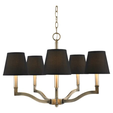 Tadley 5-Light Chandelier in Black