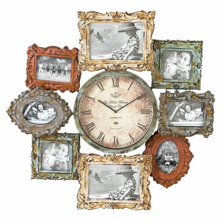 Cromwell Wall Clock & Picture Frame Decor