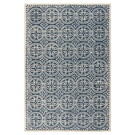 Marion Rug in Navy Blue