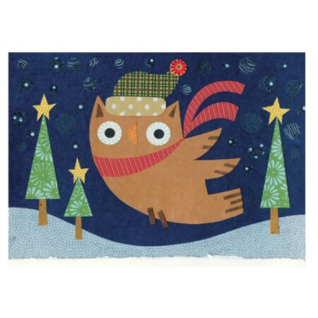 Starry Owl Greeting Card (Set of 10)