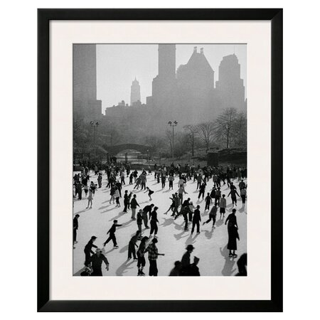 Ice Skating in New York Framed Art Print  |  Home Alone Inspired Decor