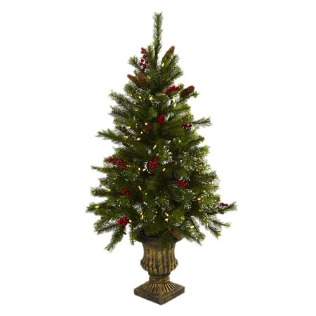 4' Faux Pre-Lit Christmas Tree with Urn  |  Home Alone Inspired Decor