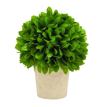 Small Faux Leaf Topiary