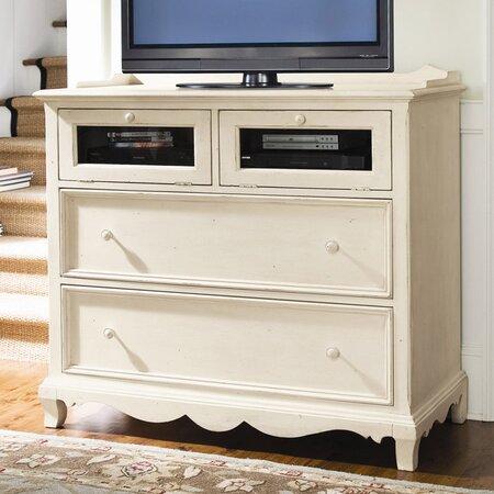 steel magnolia media chest in linen