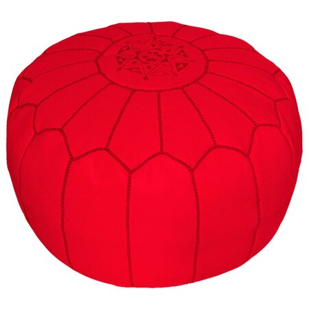 Moroccan Pouf in Red