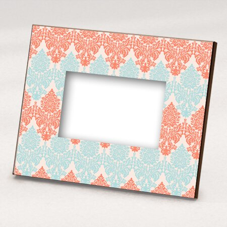 Boti Picture Frame in Coral and Light Blue