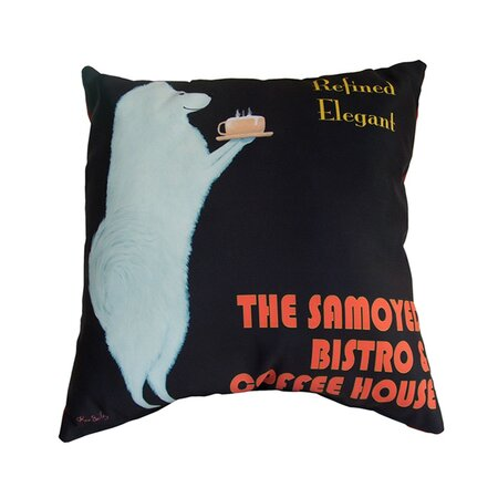 Samoyed Bistro Pillow