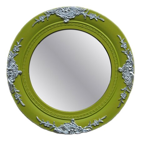 Seema Wall Mirror in Green
