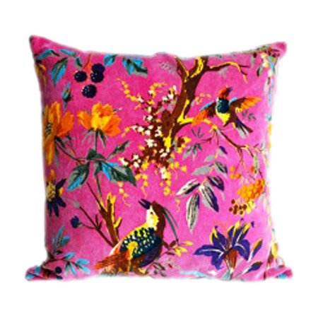 Akuti Throw Pillow in Pink